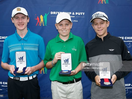 Galena freshman Ian Gilligan, center, competed in the