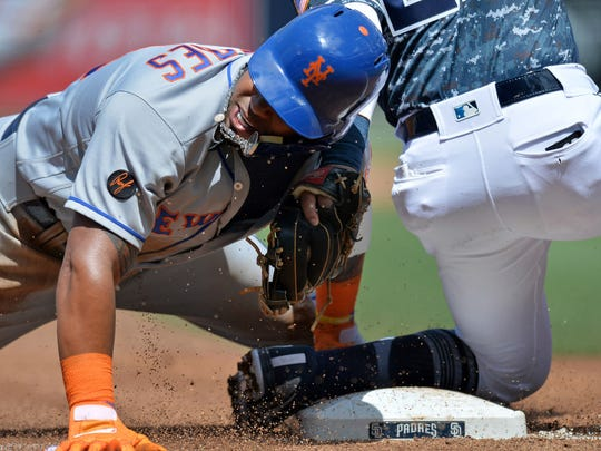 Apr 29, 2018; San Diego, CA, USA; New York Mets left