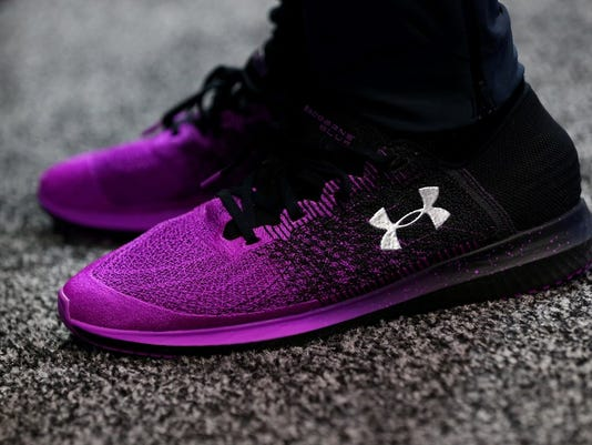 under armour sales slipped in the first quarter and shares follow