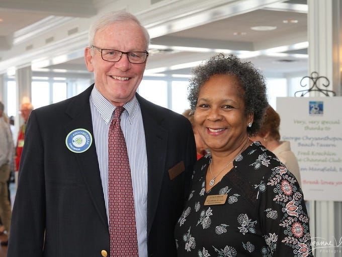 Board of Trustees Member David Hinton and Gwendolyn