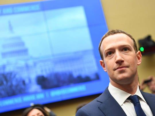 Apr 11, 2018; Washington, DC, USA; Facebook CEO Mark