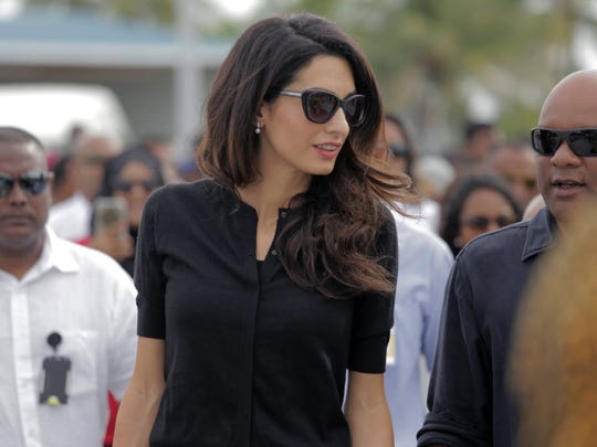 In this 2015 photo, human-rights lawyer Amal Clooney