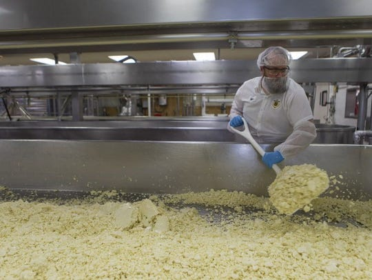 Mike Sobolik, a cheesemaker at Sartori Cheese Company