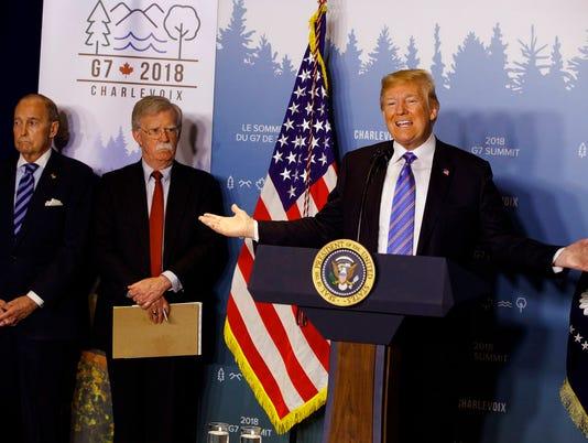 Donald Trump, Larry Kudlow, John Bolton