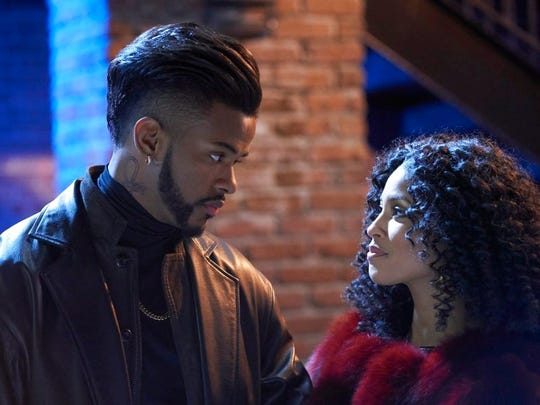 "Trevor Jackson, left, and Lex Scott Davis in ""Superfly."""