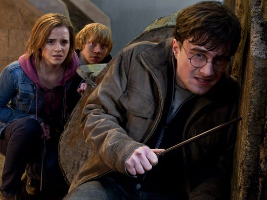 """By """"Harry Potter and the Deathly Hallows: Part 2,"""" Emma Watson, Rupert Grint and Daniel Radcliffe had made eight """"Potter"""" films."""