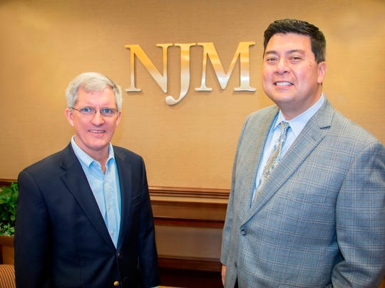 Mike Van Wagner, NJM's vice president of public affairs (left) and Jeffrey M. Vega, president and CEO of the Princeton Area Community Foundation.