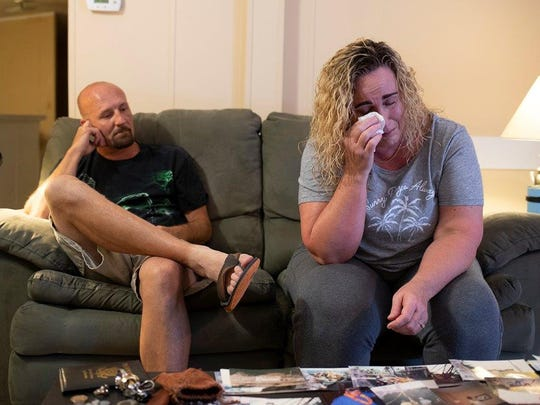 """""""I really thought we were all going to die that day,"""" Christal Collins says of the day her father wounded her and her fiance, Allen Holtzman, then took his own life."""