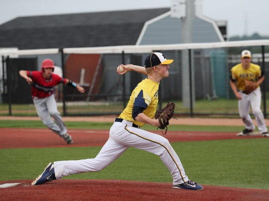 Pius senior Sam Treffert thew a shutout against Shorewood in the Woodland Conference tournament.