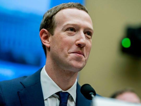 Facebook CEO Mark Zuckerberg on Capitol Hill on April