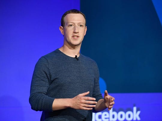 File photo shows Facebook CEO Mark Zuckerberg as he