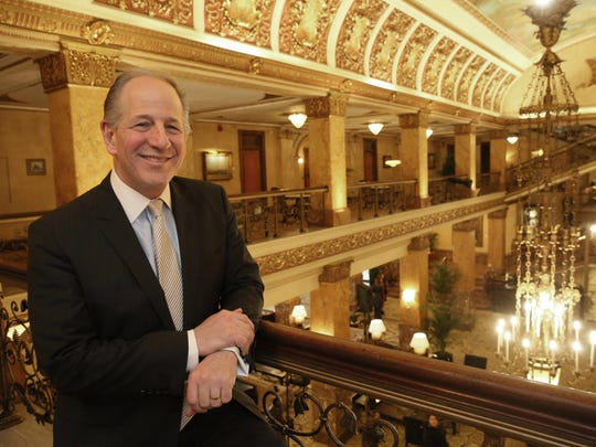 Marcus Corp. President and Chief Executive Officer Greg Marcus, shown at the company's Pfister Hotel, is focused on helping employees who've been laid off because of the coronavirus pandemic while also keeping the business in sound financial shape.