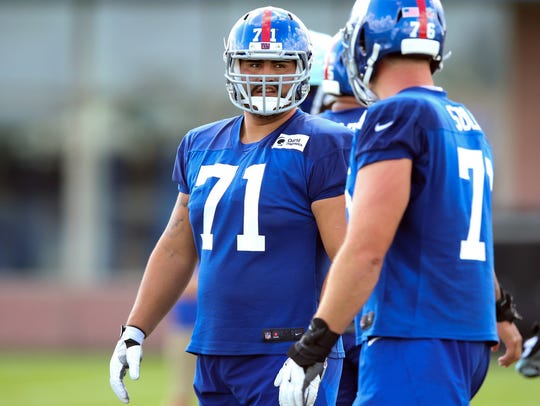 New York Giants offensive guard Will Hernandez (71)