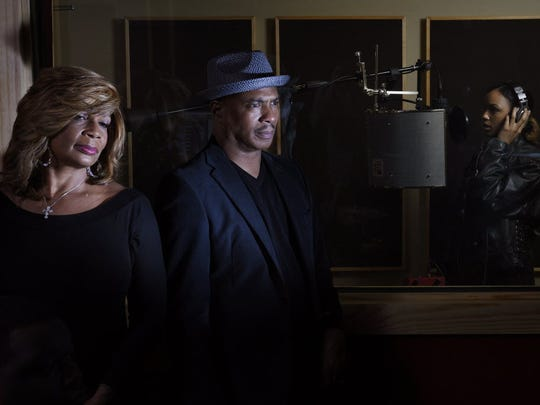 RVMK Studios. (from right) Ray Chew, internationally-known musician/conductor/arranger and his wife Vivian in their studio.