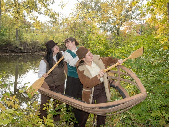 """From MSU's production of """"Men on Boats,"""" from left,"""