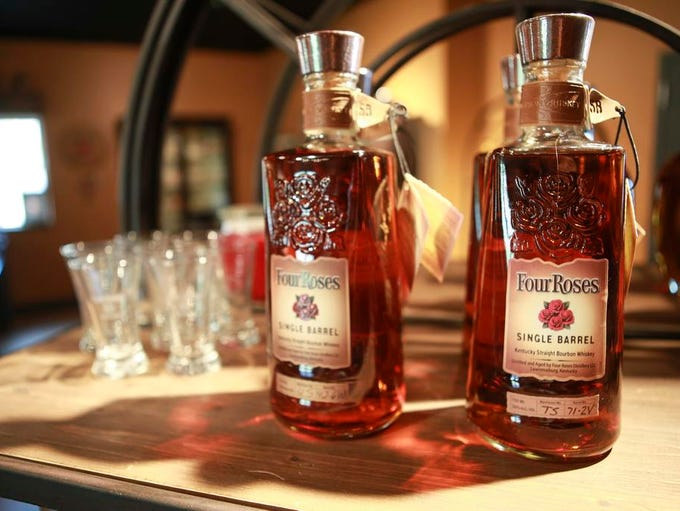 Four Roses product inside the new visitors center in