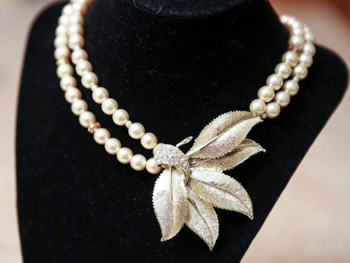 Janice Glotzbach converted this vintage brooch into