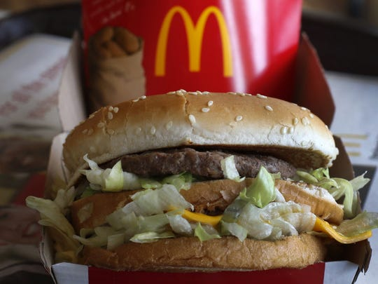 A McDonald's Big Mac sandwich.