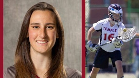 Rachel Hall played at goalie for Temple's lacrosse team.