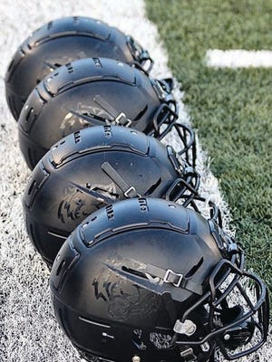 ADM football helmet. PHOTO COURTESY OF ADM ATHLETICS