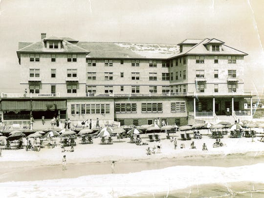 An undated photo shows the original Commander Hotel
