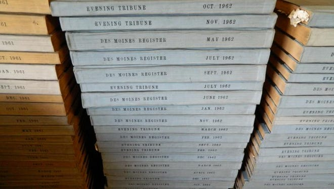 Grand View University's collection of bound volumes of Register and Tribune newspapers are just part of Randy Brubaker's legacy.