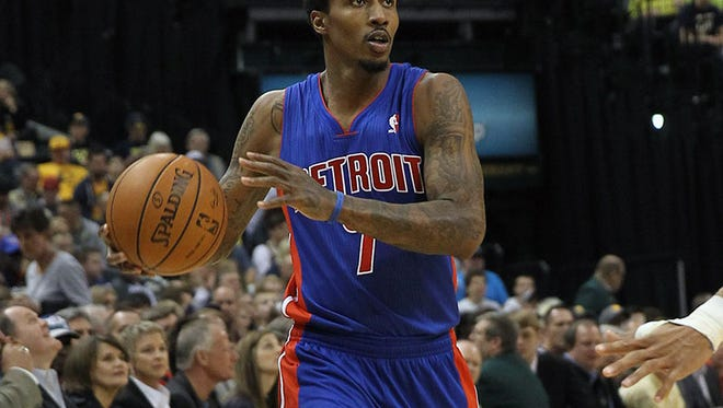 Pistons guard Brandon Jennings