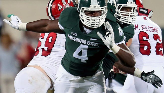 Michigan State defensive lineman Malik McDowell