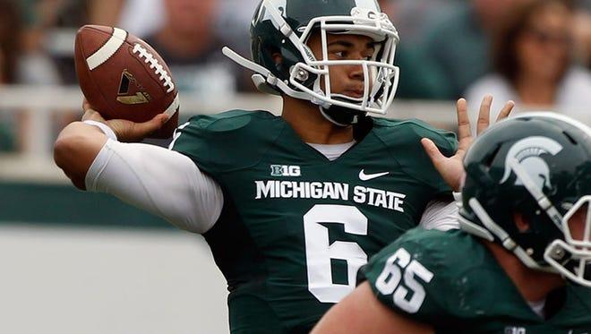 Michigan State quarterback Damion Terry