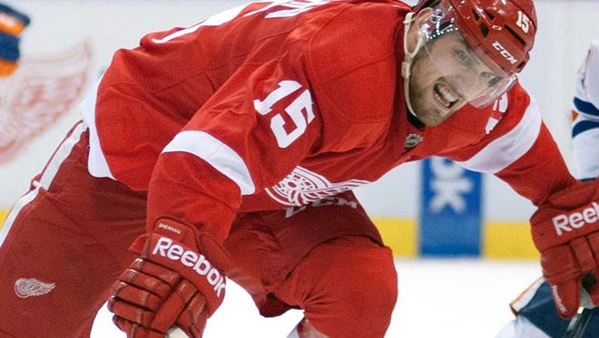 Red Wings forward Riley Sheahan