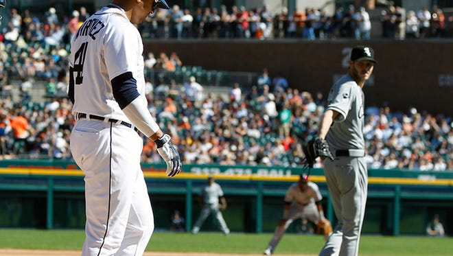 White Sox pitcher Chris Sale seemed to accuse Tigers designated hitter Victor Martinez of stealing signs on Wednesday.
