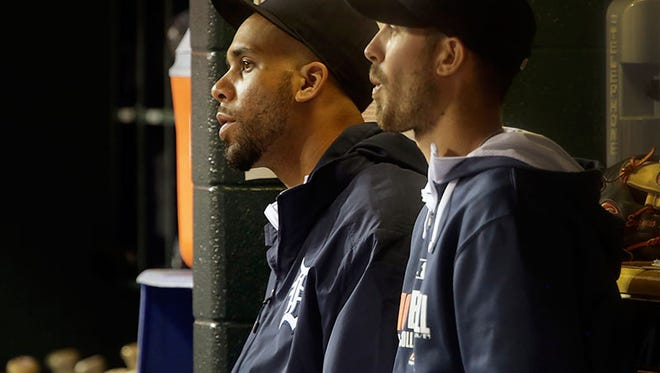 Tigers pitchers David Price and Rick Porcello.