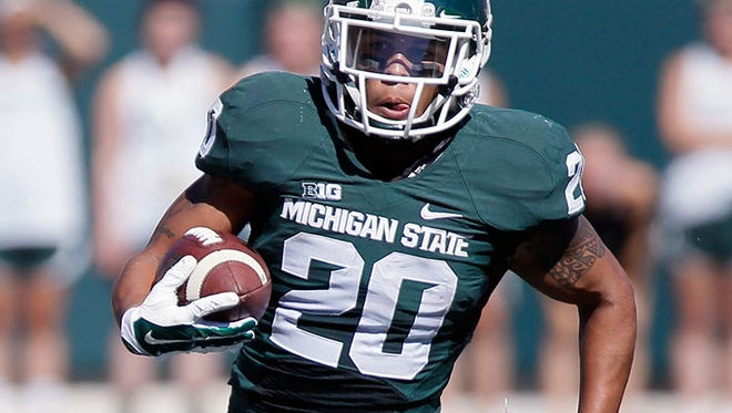 Michigan State running back Nick Hill