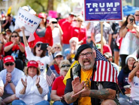 White, of South Carolina, attends a pro-President Donald Trump rally ...