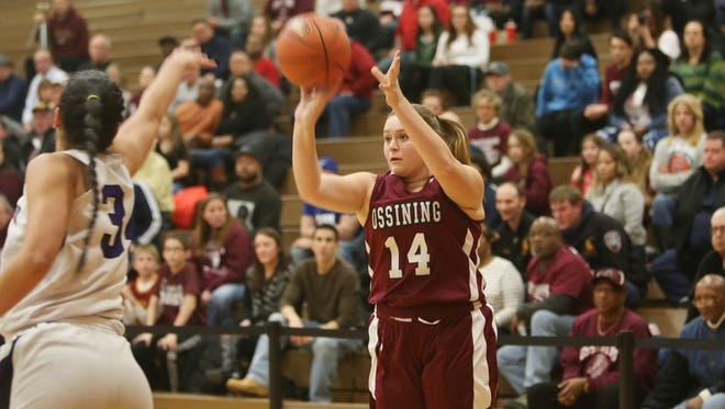 Ossining defeated Monroe Woodbury 59-44 in the girls Class AA regional final at Orange Community College in Middletown March 4, 2016.