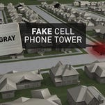 Police use stringrays to mimic cell phone towers and gather data from nearby cell phones