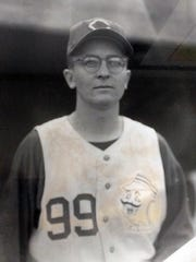 A photo of Stowe taken at Wrigley Field in Chicago during the 1956 season.