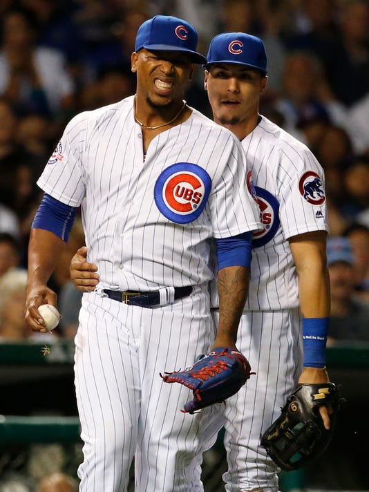 info for d12db f8094 Cubs' reliever Pedro Strop out 4-6 weeks with knee injury