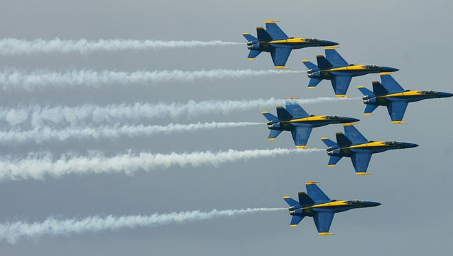 The Blue Angels fly in this 2004 photo