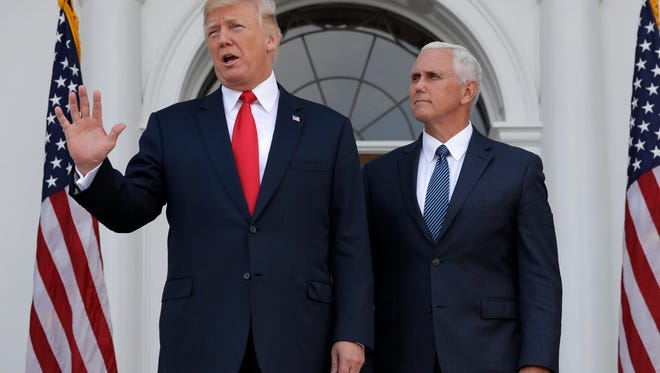 President Trump and Vice President Pence on Aug. 10, 2017.