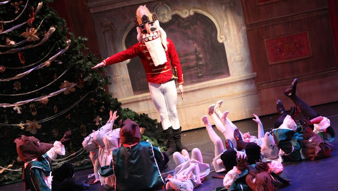 """Students from the Nolte Academy of Dance perform the holiday classic """"The Nutcracker"""" at The Englert Theatre."""