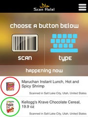 Scan Halal allows users to scan a barcode on any commercially