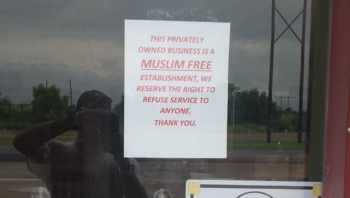 "muskogee muslim Muskogee, oklahoma they also catalogued 2,599 ""anti-muslim bias incidents"" nationwide last year, up from 2,213 the year before, a 17 percent increase."