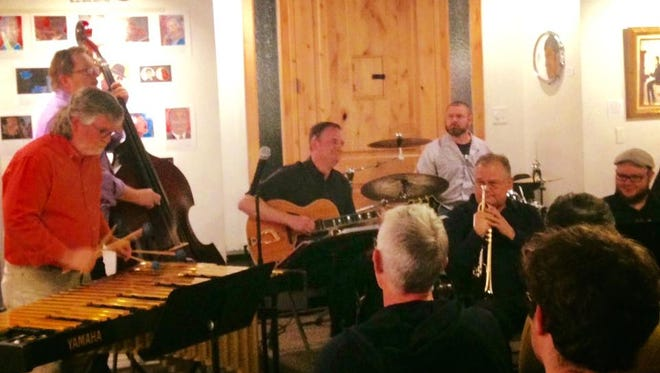 Jazz musicians gather for the Open Jazz Jam session at the DiFiore Center for the Arts.