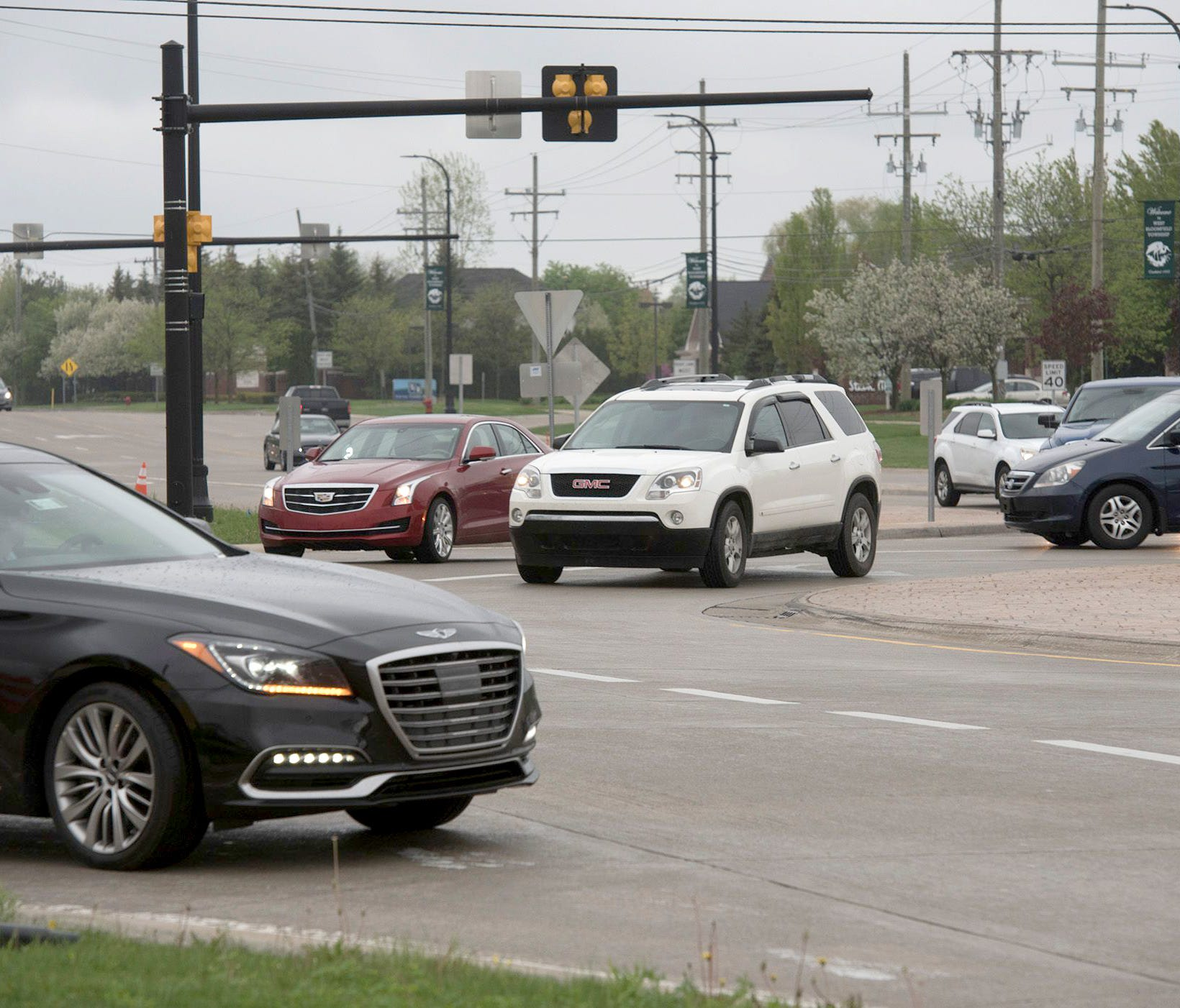 The roundabout at 14 Mile and Orchard Lake Roads is fourth most dangerous intersection in the state for 2017.