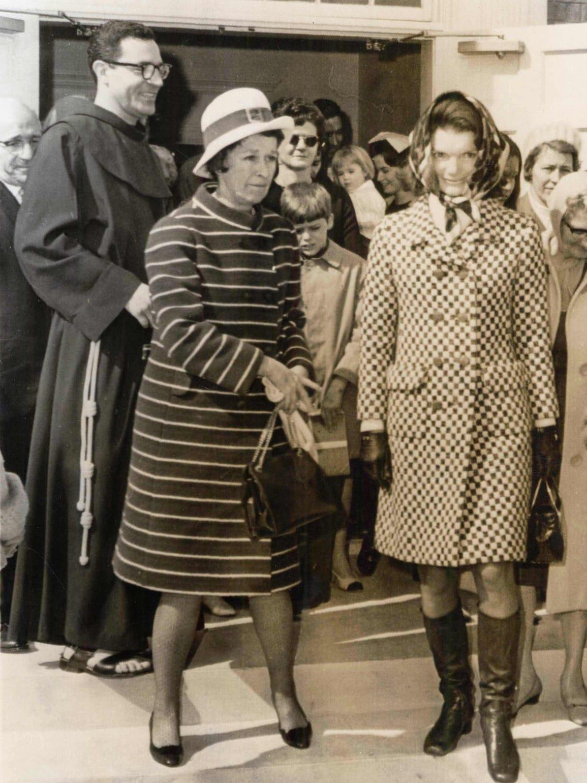 Jackie Kennedy Onassis leaving St. Augustine Church