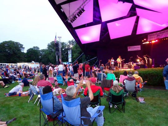 Music lovers camp out to enjoy the free summer music series at Long's Park.