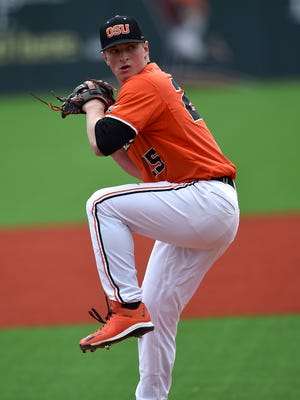 Right-hander Drew Rasmussen is the No. 1 starter for No. 3 Oregon State.