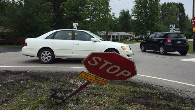 Police in Campbell County are asking people to watch out for a person in a truck or other vehicle running over stop signs.
