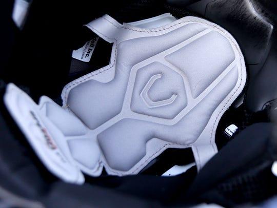 Padded sensors inside the new Siegel football helmets,